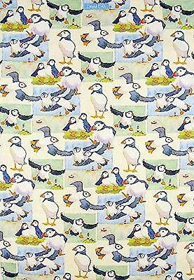 Emma Ball (Emma Ball Repeating Puffins 100% Cotton Tea Towel - Full Range In Stock)