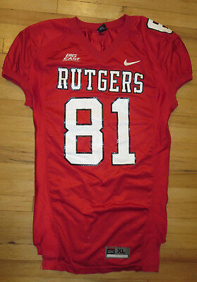 Rutgers Football Game Jersey Black Nike  81 Xl