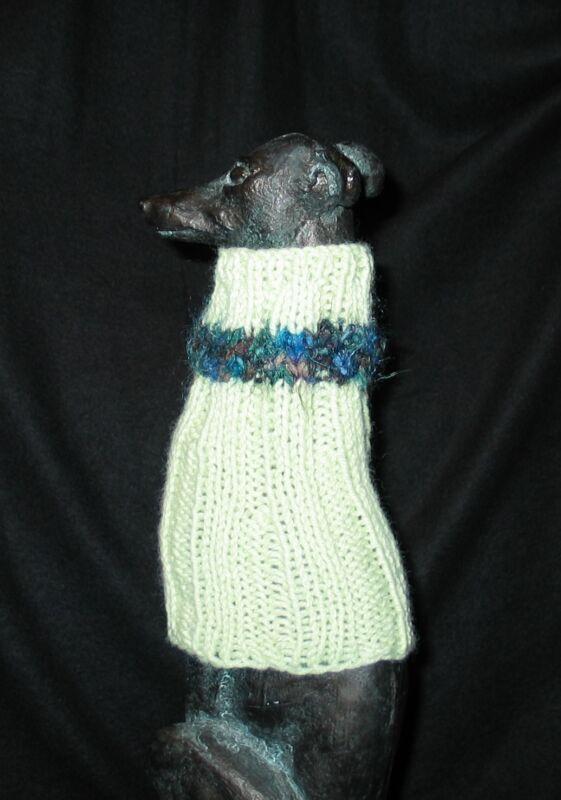 Lt Green Italian Greyhound Dog Snood 2 wear w/ dog coat *100% Donation