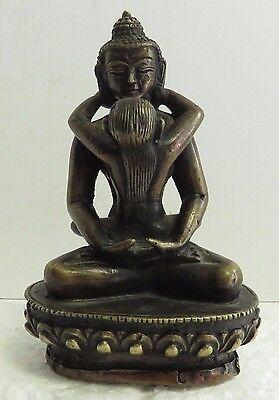 "Antique 1890 Original Patina Bronze ""Naughty "" Figure of Lady Dancer"""