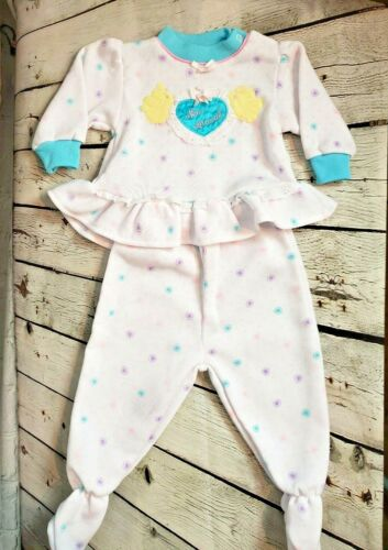 Vintage 90s Lovespun Girls 6 to 9 Months New Arrival 2 Piece Outfit Polka Dot