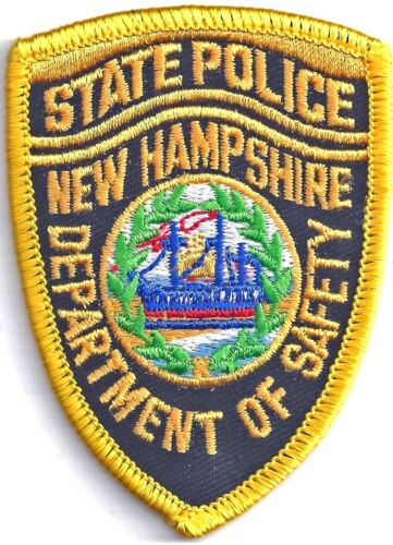NEW HAMPSHIRE STATE POLICE - SMALL SHOULDER PATCH - IRON OR SEW-ON PATCH