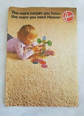 Vintage Retro 1970's Hoover Vacuum Cleaner 8-Page Sales Product Catalogue