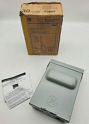 Ge Fused Ac Disconnect Outdoor Switch Air Conditioner 30amp 120240v 240watt