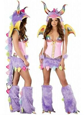 Gorgeous Rainbow Dragon Sexy Women's Furry full Costume MED NEW (Women's Dragon Costume)