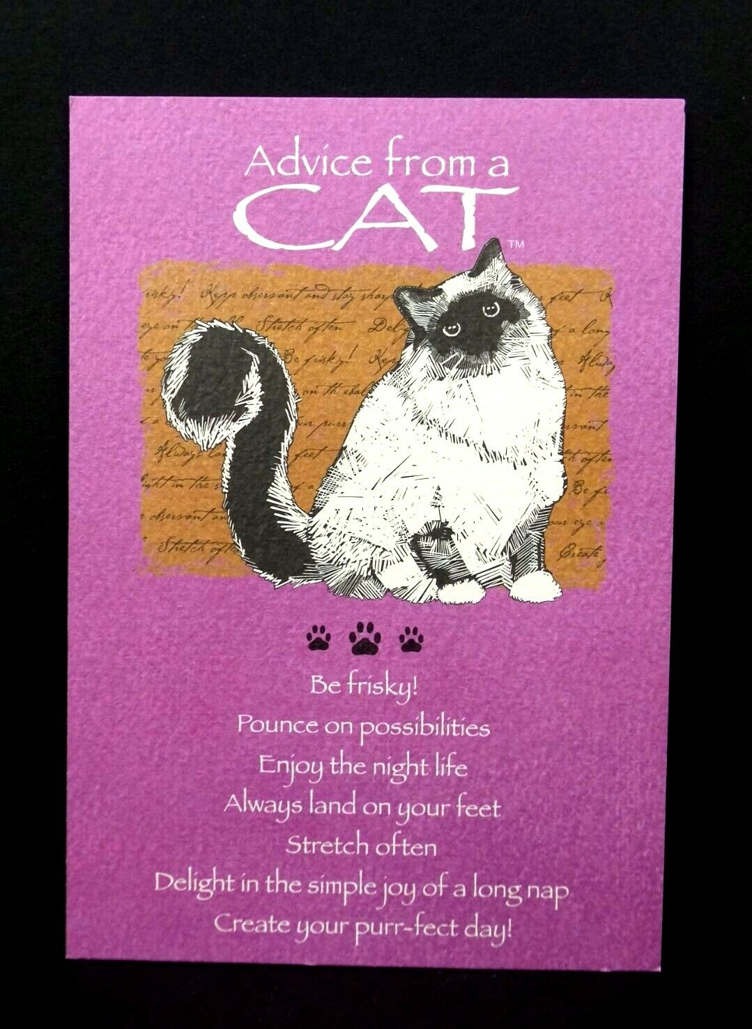 UPC 032687090197 Product Image For Happy Birthday Greeting Card Advice From A Cat Leanin Tree Earth