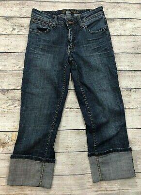 Dish Denim Cuffed Capri Cropped Jeans Womens Size 26 Stretch W8 (Stretch Denim Cuffed Cropped Jean)