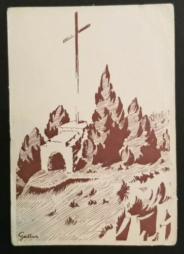 Mint Vintage Hungary Boy Scouts Scout Chapel Illustrated Postcard