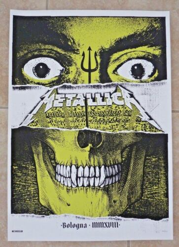 Metallica Bologna Concert Poster Litho Lithograph Glow In Dark 2018 #366 of 550