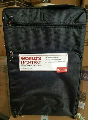 IT Luggage Worlds Lightest Suitcase Black Medium 69cm New