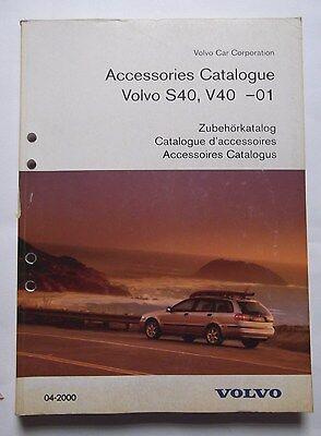 Genuine Volvo S40 & V40 Accessories Catalogue Book