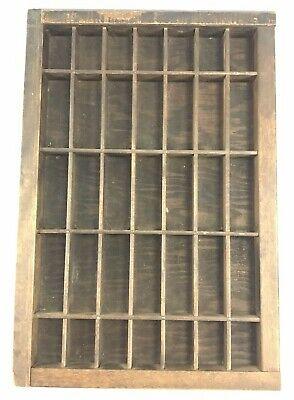 Vintage Wood Printing Letterpress Tray Drawer - 16.5