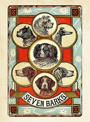 Vintage Dogs Trade Card tin sign contemporary home kitchen art