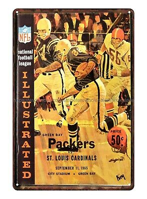 1965 Green Bay Packers metal tin sign vintage reproductions for sale