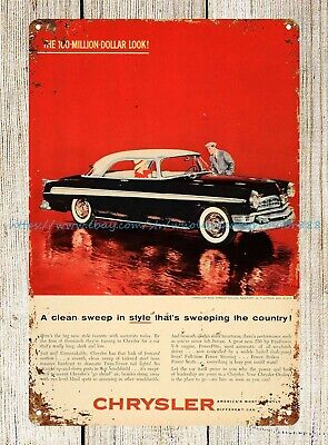1955 Ad Vintage Chrysler New Yorker Deluxe Newport metal tin sign man cave wall
