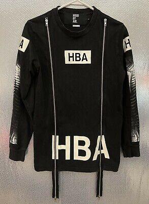 Hood By Air HBA Sz S Black LS Skeleton X-Ray Graphic Zipper Tee Jacket
