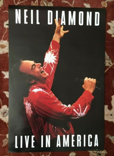 NEIL DIAMOND  Live In America  rare original promotional poster from 1994
