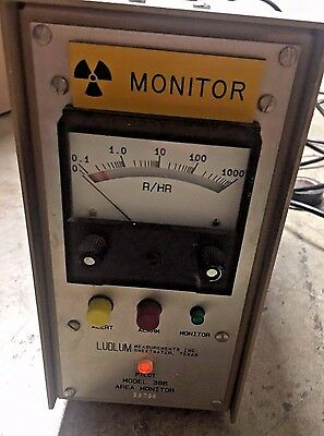 Ludlum Measurements Model 366 Geiger Counter No Probe Roentgen Rad No Power Cord