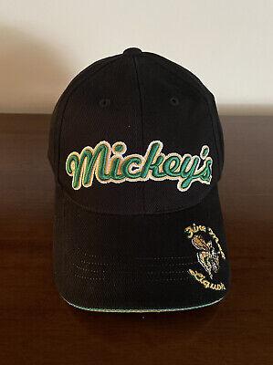 Mickey's Fine Malt Liquor Black Green Hat Cap w/ Hornet Made By American Needle