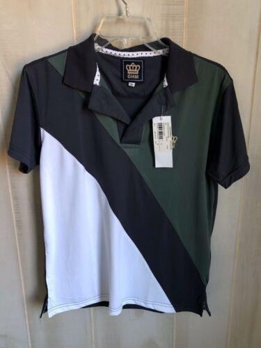 George H Morris GHM SIZE S Mens Pro Sport Short Sleeve Polo