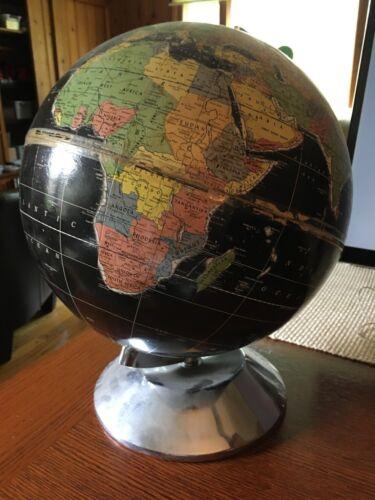 Vintage Rand McNally Centennial Twelve Black Globe (Political)