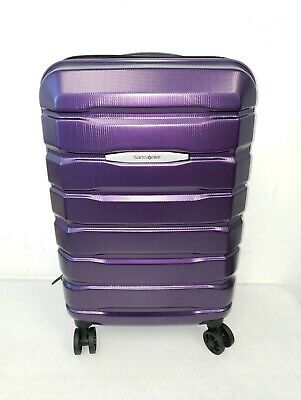 "Samsonite Tech 2.0 Polycarbonate Hard Case 22"" Carry On Spinner Luggage Purple"