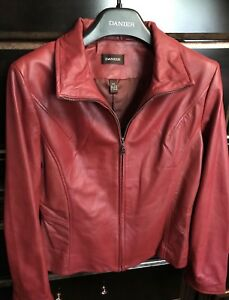 New Red and White Danier Leather Jackets