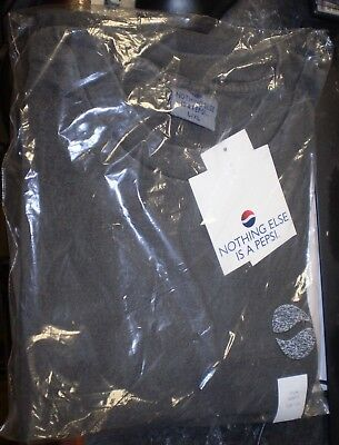 """Vintage Authentic Pepsi Cola Brand """"Nothing Else is a Pepsi"""" T-Shirt L/XL NEW"""