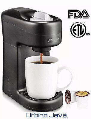 Urbino Java Free serve Coffee Maker Machine K Cup pods compatible, Travel size