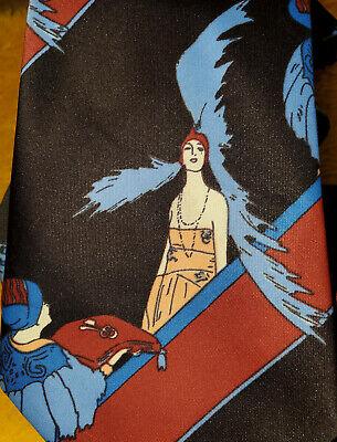 History of 1920s Men's Ties, Neckties, Bowties 1970s ~ ART DECO 1920s ~ VINTAGE FLAPPER SCENE ~ MENS DRESS TIE ~ 56