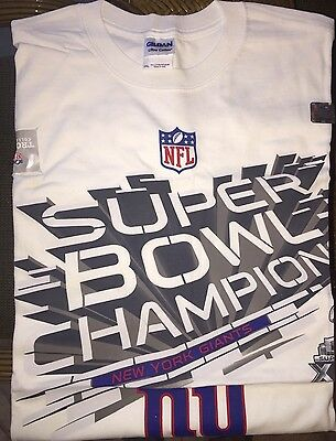 New York Giants XLVI Super Bowl Champs ~ BRAND NEW ~ T Shirt (XXL) ~