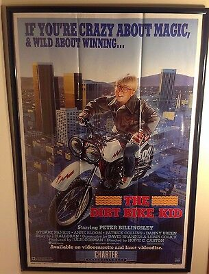 Dirt Bike Kid (1986) - Movie Poster - Motorcycle - VERY RARE!- Peter Billingsley