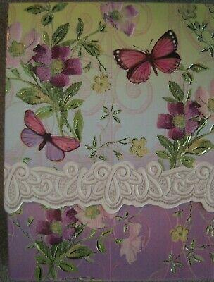 Carol Wilson Fine Arts Purse Embossed Note Pad Butterfly Blue Bird 90 Sheets Carol Wilson Fine Arts