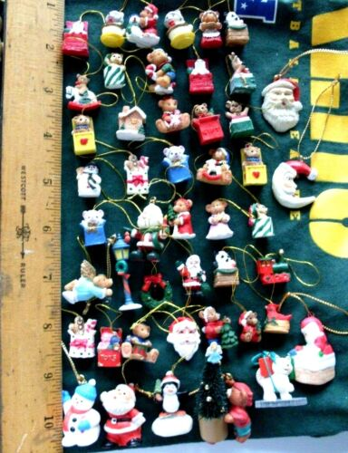 Vintage Miniature Christmas Decorations Ornaments Resin
