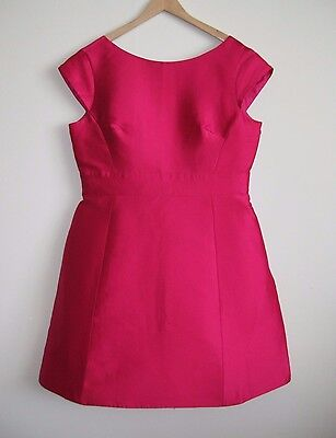 KATE SPADE Sweetheart Pink In Full Bloom Backless Mini Dress Size 14 NWT $398