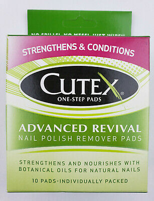 Step Nail Polish Remover Pads - Cutex One-Step Pads Advanced Revival Nail Polish Remover Pads, 10 Count - New
