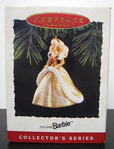 VINTAGE! 1994 Hallmark Keepsake Ornament Holiday Barbie-QX521-6