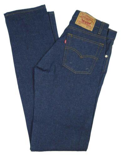 Vintage Levis NOS 505-0217 Dark Blue Jeans Mens 30x36 NWT Deadstock Denim 80s