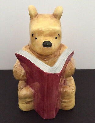 """Disney  Winnie The Pooh Charpente Coin Bank Reading """"All About Honey Book"""""""