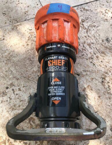 "Elkhart Brass Chief 4000-20 Fire Hose Nozzle Fog Straight Stream 1 1/2"" 250 GPM"