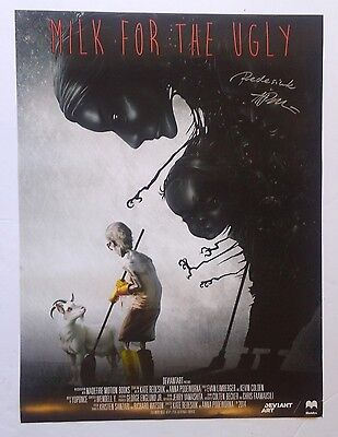Signed   2014  Milk For The Ugly  Motion Book Promo Poster Deviant Art 18  X 24