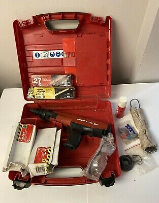Hilti Dx36 Actuated Nail Gun Fastening Tool W Case Accessories