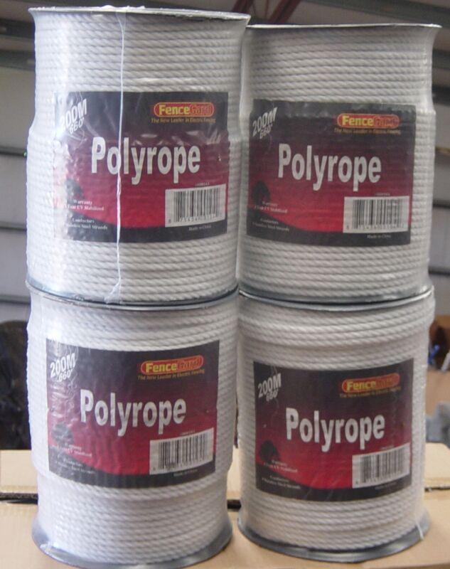 "5 Rolls 1/4"" Horse polyrope 656"