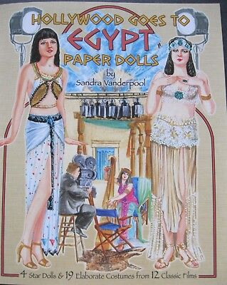 HOLLYWOOD GOES TO EGYPT Paper Dolls w/ Classic Film Costumes--SPECIAL - Hollywood Film Costumes