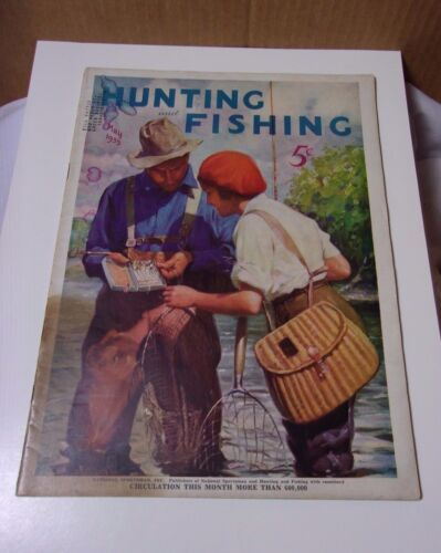 1930's Vintage Hunting and Fishing Magazine May 1935 T*