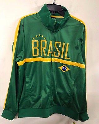 NWT Men FIFA World Cup Soccer BRAZIL National Team Track Jacket XL Brazil Soccer World Cup