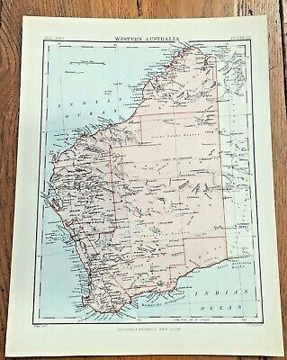 circa 1880s map of western australia  ( adam & charles black )