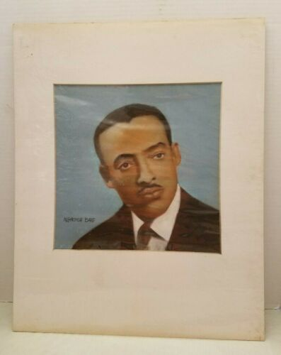 1st African American Television Journalist Louis Lomax ILLUSTRATORS ART by Bare