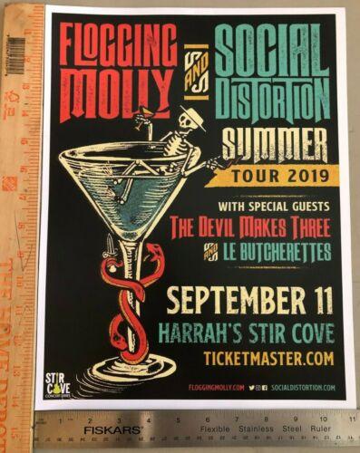 RARE 2019 SOCIAL DISTORTION FLOGGING MOLLY TOUR POSTER HARRAH