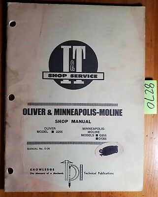 It Oliver 2255 Minneapolis-moline G955 G1355 Tractor Shop Service Manual O-26